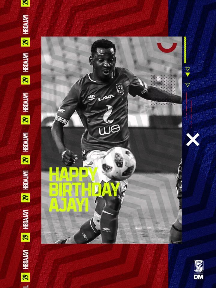 نحتفل اليوم بعيد ميلاد لاعبنا جونيور اجايي .. نتمنى لك عيد ميلاد سعيد جونيور 😉🎈🎉  هل تتذكر أول هدف له مع فريقنا!؟ 🤔⚽️ https://t.co/GcMo2WbymB