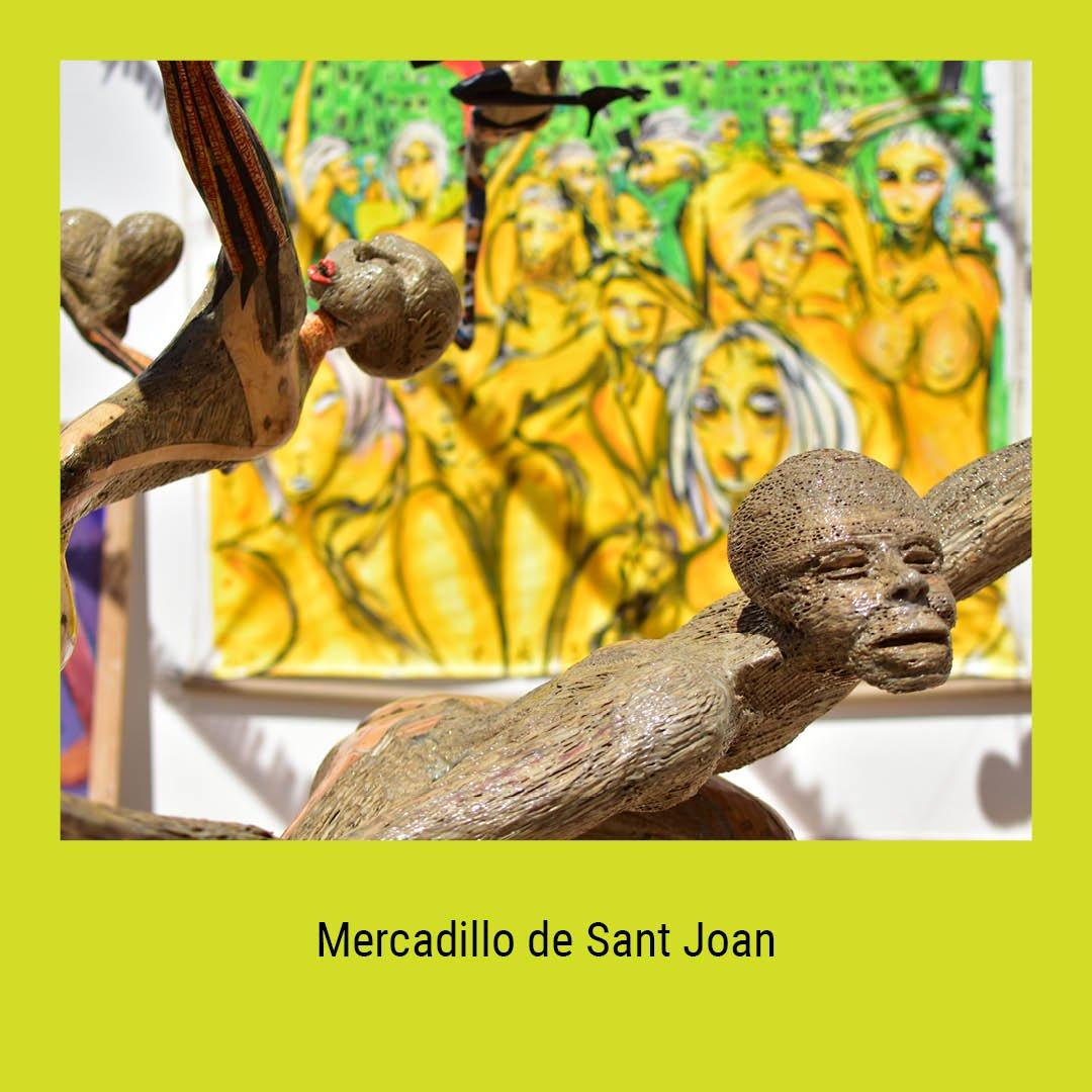 ¡Viva el arte! Encuentra diferentes obras de arte en el Mercadillo de Sant Joan cada domingo desde las 09h00 hasta las 16h00 😎🖼️🎶  #apoyamoslacultura #notepierdasnada #ibiza #art #sunday #photooftheday #pictoftheday