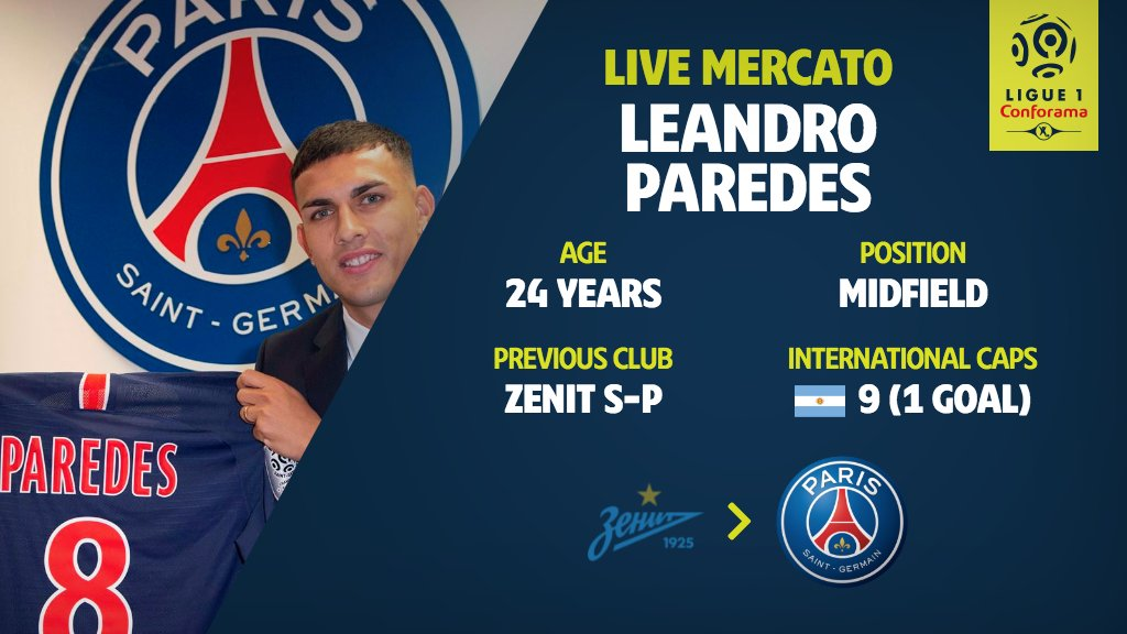🇦🇷😎 @PSG_English have confirmed the arrival of @LParedss from Zenit St. Petersburg #Mercato #TransferWindow