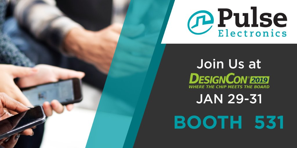 Attending #DesignCon? Discover the latest technology with Pulse Electronics at booth 531 https://hubs.ly/H0gmNy00