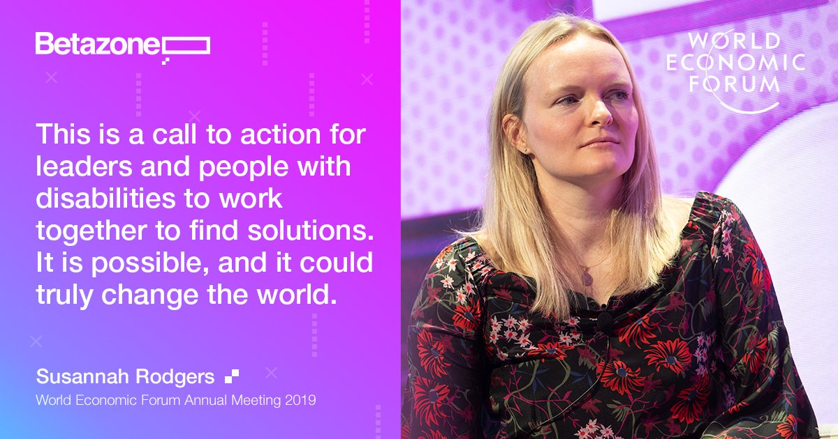 This time last week I had an amazing opportunity to moderate an incredible panel of speakers at the @wef Annual Meeting in Davos on Designing for Everyone. This was my call to action from that insightful discussion (for me as well). You can watch it here: https://bit.ly/2MibX1T