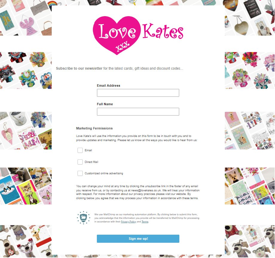 Sign up to our newsletter and receive 10% off your first order and regular exclusive discounts...  https://mailchi.mp/lovekates/love-kates-cards-gifts-sign-up …  #lovekates #discountcodes #cards #gifts #onlinecardshop #onlinecards #specialoffer #flashsale #katescardsandgifts #greetingcards