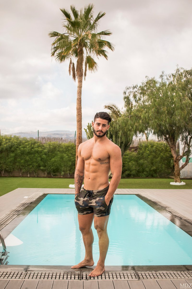 Hot Sexy Guy In Pool Stock Photograph