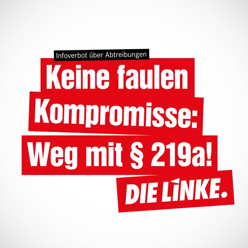 """""""Frauenrechte dürfen keine Verhandlungsmasse sein! Der #§219a gehört endlich abgeschafft!""""- @CansuOezdemir zum #Groko-Kompromiss zum #219a http://bit.ly/2SbLE2N #Hamburg #wegmit219a #hhbue"""