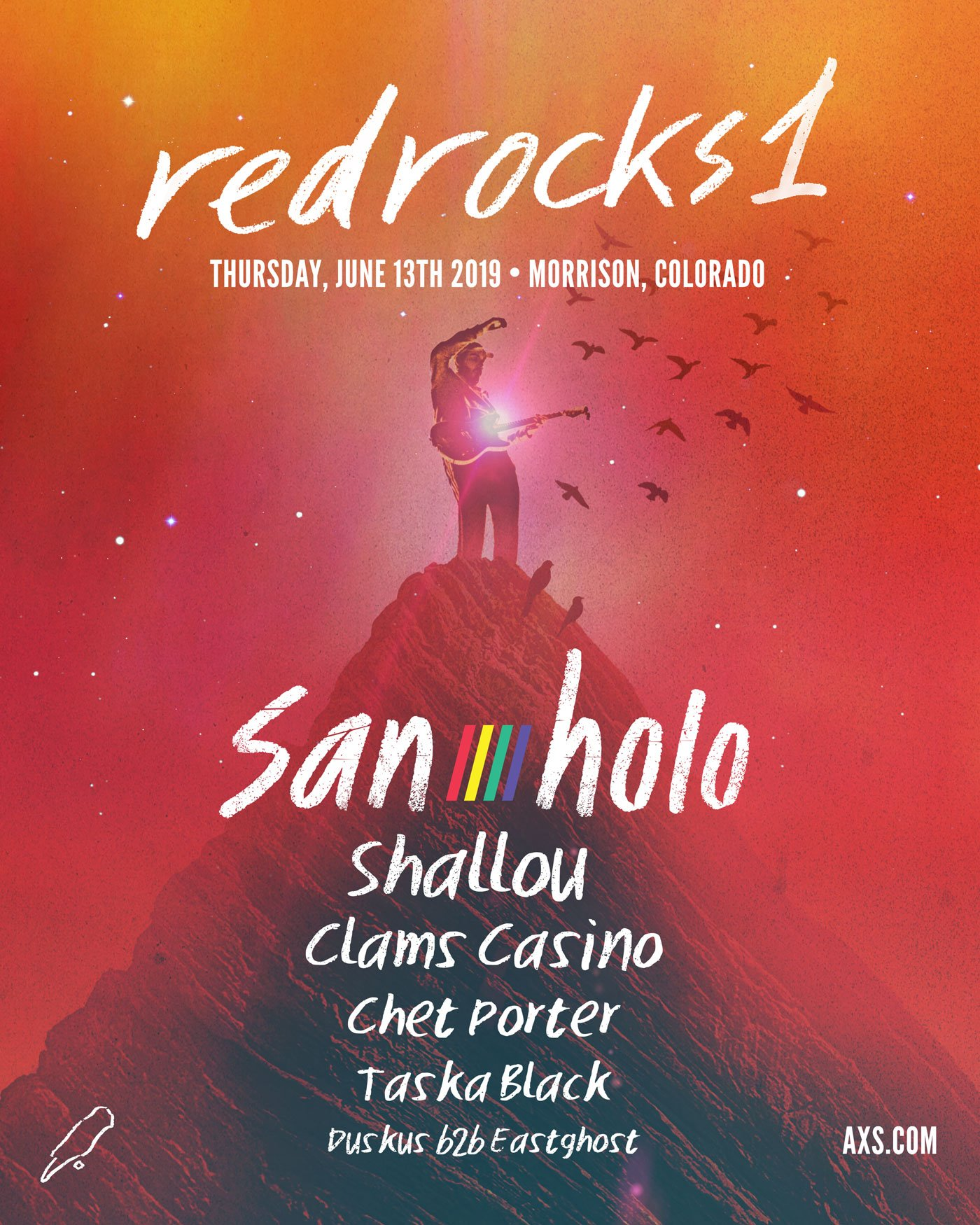 San Holo headlines Red Rocks