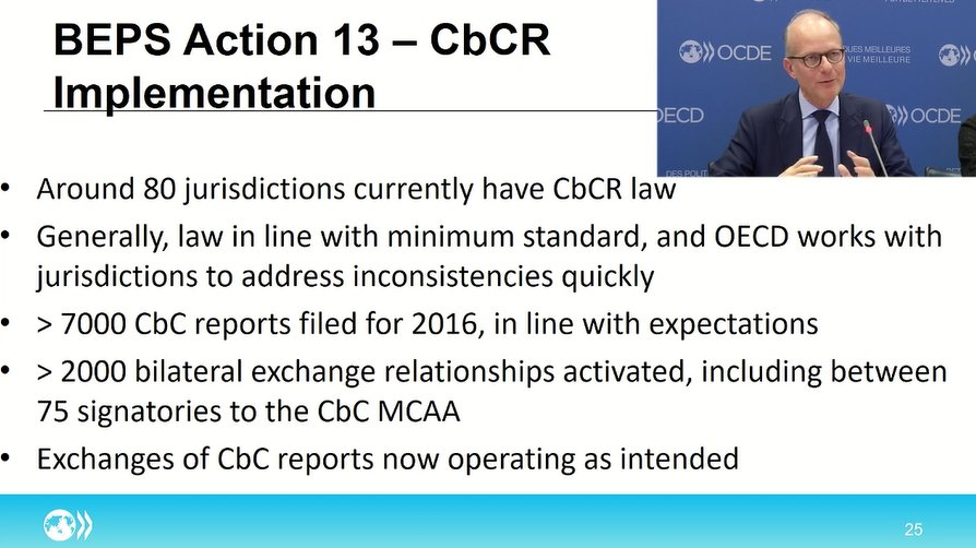 Oecd Tax On Twitter Update On Beps Action 13 Tax Administrations Are Now Using Country By Country Reports In Risk Assessment Says A Pross Next Step Cbcr Review In 2020 More Info On Cbcr