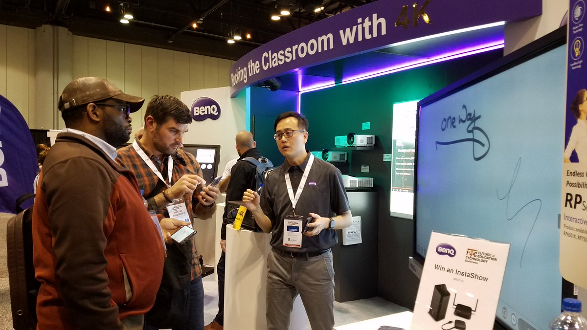 Come by our booth #2441 at #FETC2019 to check out how our new #BenQBoards are Rocking the Classroom with 4K and register for a chance to win an InstaShow for seamless wireless presenting.