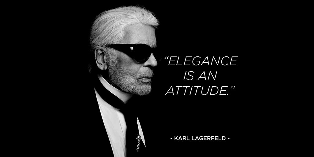 """Inspiring, intriguing and sometimes provocative: """"Karlism"""" quotes invite you to see the world through the designer's eyes. #AccordingtoKarl"""