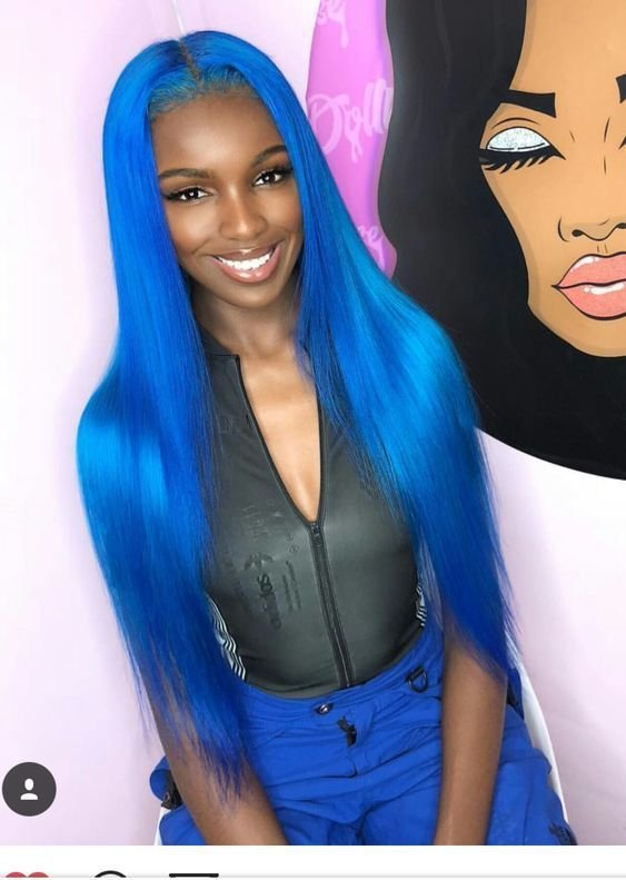 This BLUE hair looks so good on this beauty!  You can create this look with our blue Indian Remy hair  Shop: https://pretty2gorgeous.com/shop/silky-straight-wefts-indian-remy-hair/…  #pretty2gorgeous #hairextensions #hairflip #bluehair #longhairdontcare #extensions #weave #hairgoals #hairinspo #indianhair