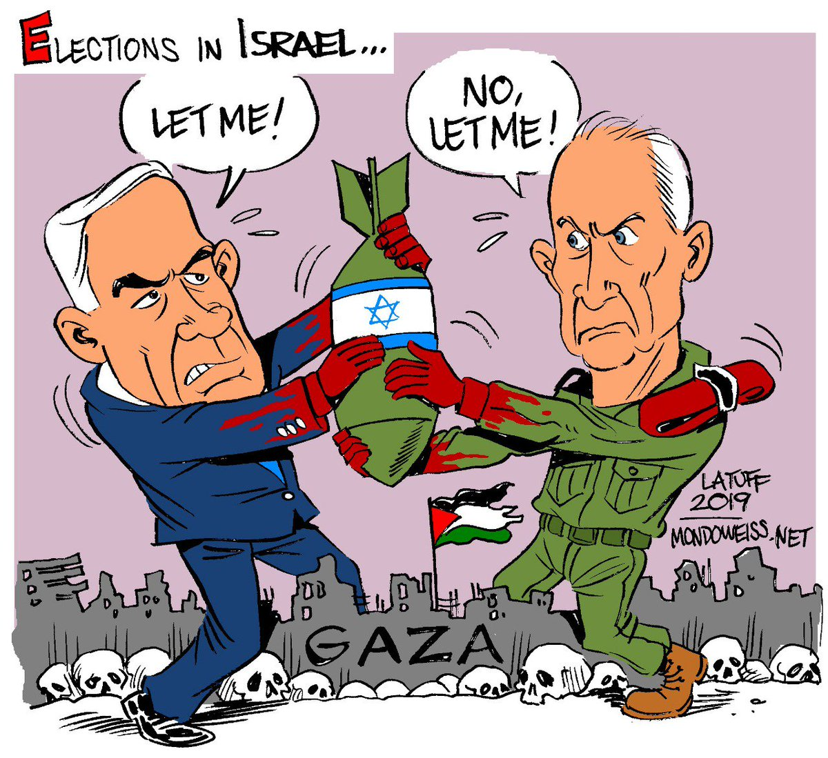 "Carlos Latuff Twitterissä: ""Chocante, mas as eleições em #Israel ..."