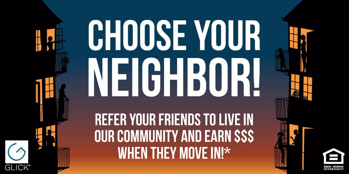 Refer your friends to live in our community and Earn $500 when they move in! Call or visit the Leasing Office for more details!