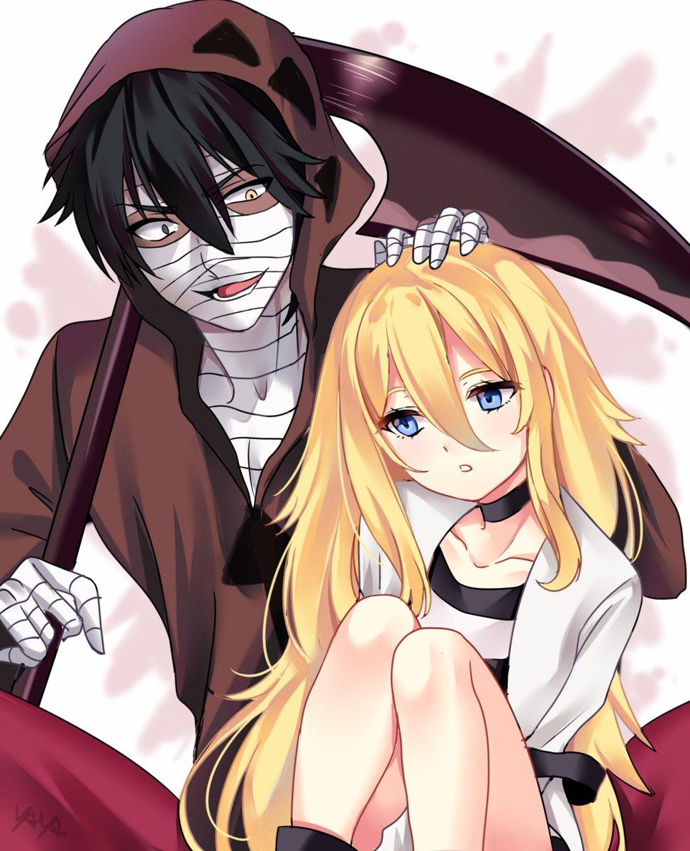 Ray and Zack from Satsuriku no Tenshi  #satsurikunotenshi #angelsofdeath #rayXzack #ray #zack #zackxray #rachelgardner #isaacfoster #yaya #yayachan #anime #manga #animecouple