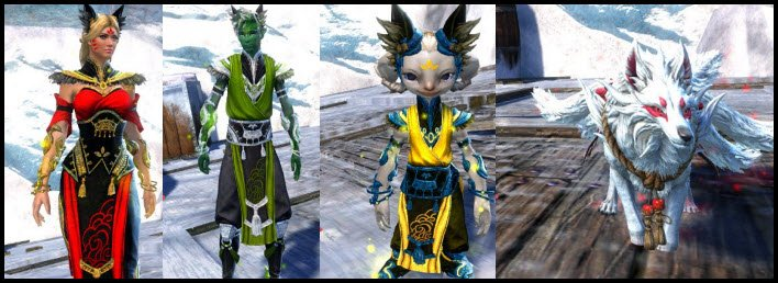 GW2 gemstore update - Shrine Guardian Outfit and Mini now available