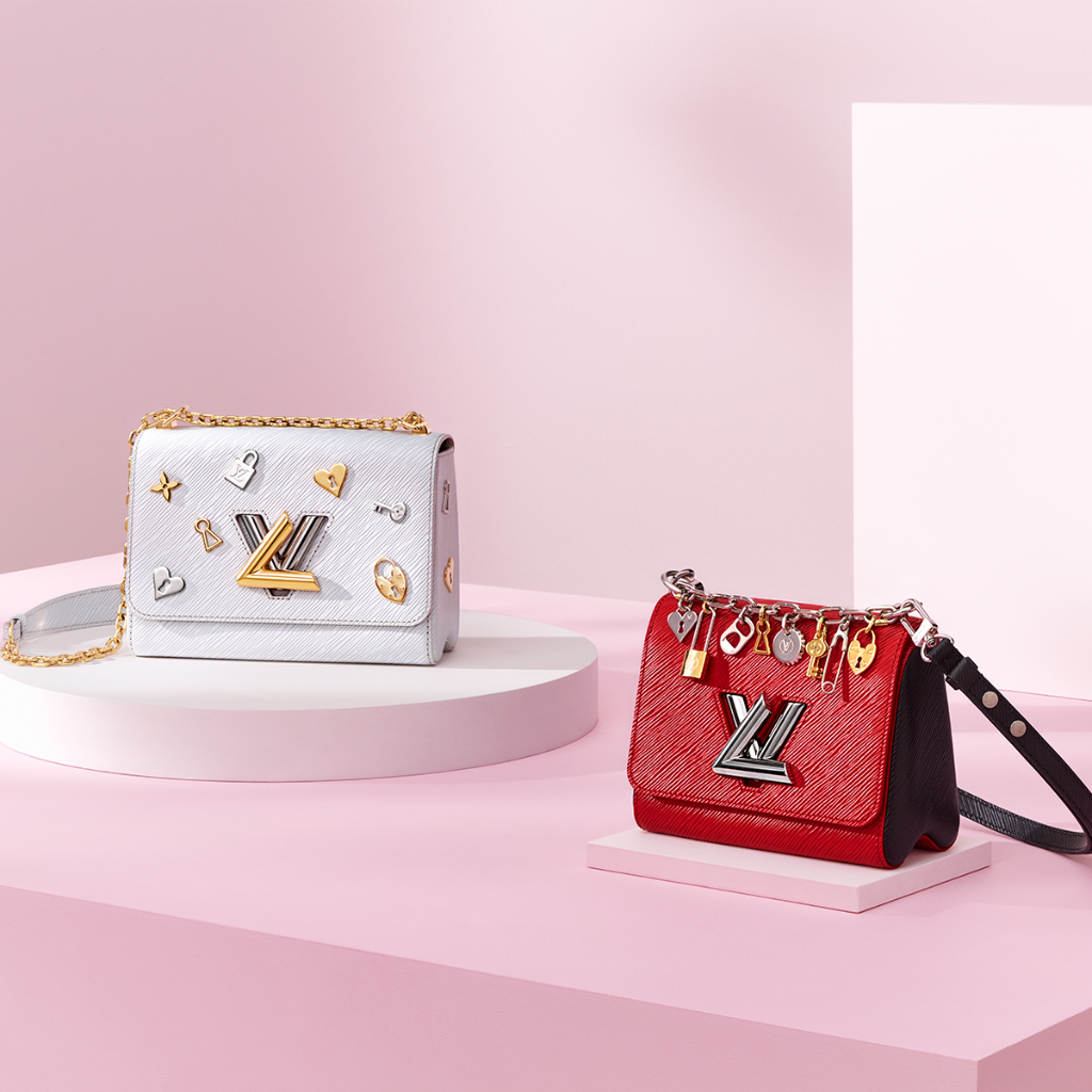 df73b3c25e71 The LV Love Lock editions of the #LouisVuitton Twist Bag have arrived just  in time for Valentine's Day.