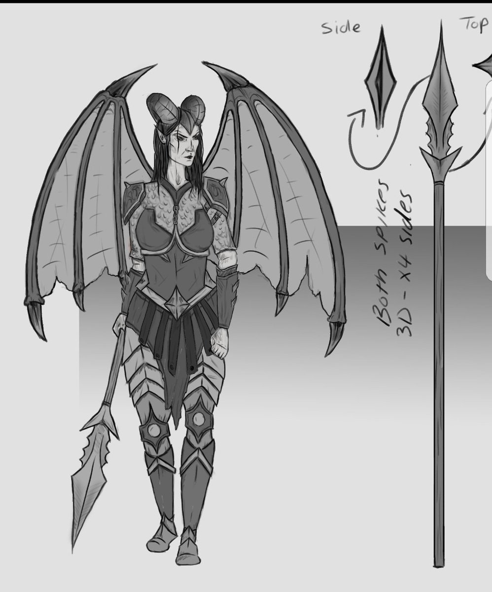 Smaugie On Twitter Valkia Chaos Demon Character Concept