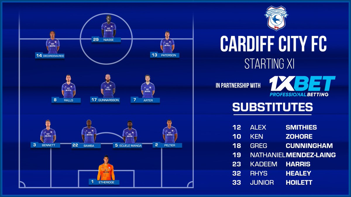 #ARSCAR | #CardiffCity team news…   Brought to you by @1xbet_Eng.  #CityAsOne