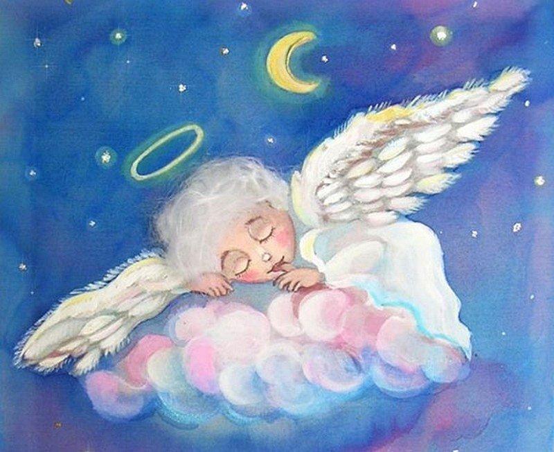 доброй ночи мой ангелочек открытки