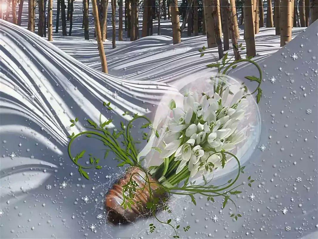 Картинки подснежники в снегу на рабочий стол подход весьма
