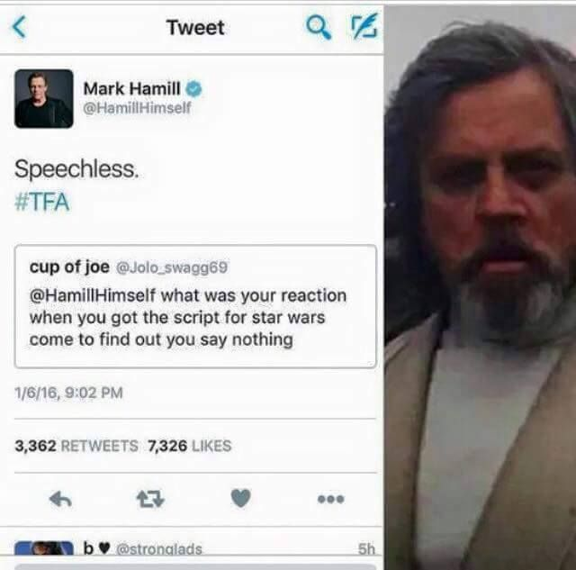 Mark Hamill On Twitter Dailydoseofdadjokespart4 Cont D #starwars #ivankatrump #markhamill thanks for watching. mark hamill on twitter