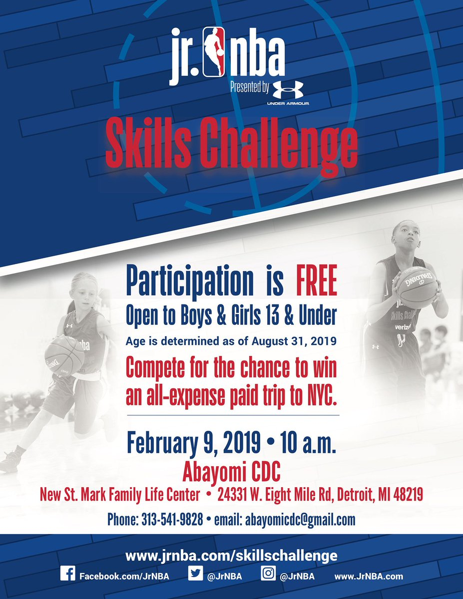 test Twitter Media - You think you got game? Show us your stuff! Register now and compete for an all-expense paid trip to New York City!  Click the link below for more details.  #AbayomiCDC #Nonprofit #Detroit #Youth #Basketball #SkillsChallenge #NYC #YouthSports  https://t.co/lnNTdkMIdr https://t.co/k1aEWwFcyo