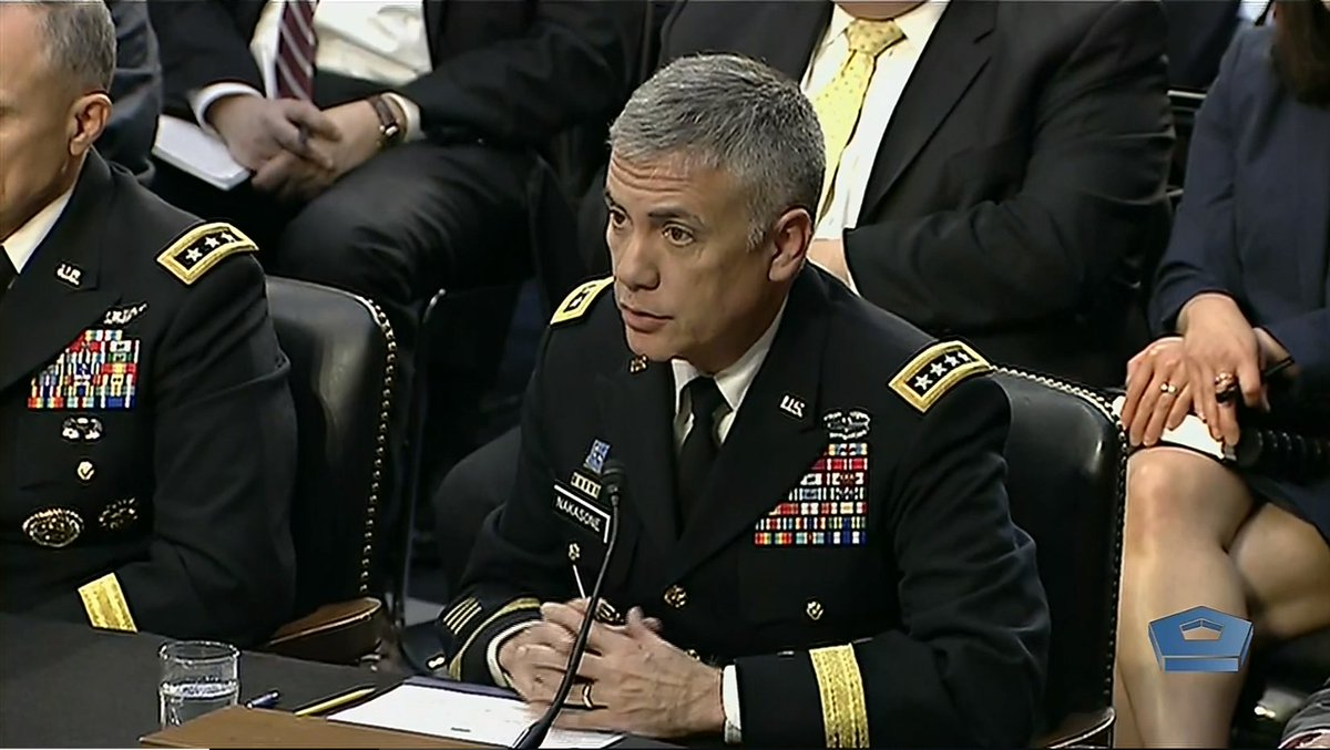 "Department of Defense 🇺🇸 on Twitter: ""#ICYMI: Earlier today, @USArmy Gen.  Paul M. Nakasone, commander of U.S. Cyber Command, director of the National  Security Agency and chief of the Central Security Service,"