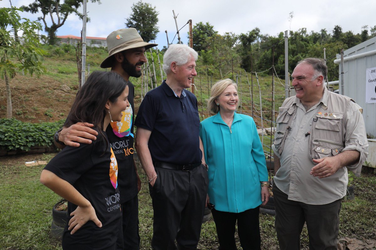 Hillary & I spent yesterday visiting with Puerto Ricans who are rebuilding their communities, from innovative farmers, to small-business owners, to ecologists restoring habitats. It's encouraging. We all should redouble our efforts to help the people of Puerto Rico.