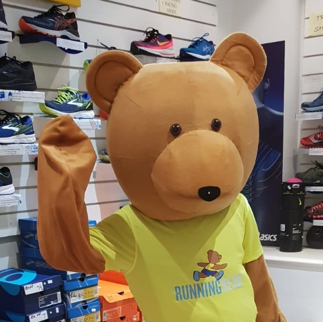Have you met our mascot?..  You can follow his adventures over on @RunningBearFun   He's training for the Wilmslow Half Marathon (festival of running) and the Manchester Marathon   #BeatTheBear #UkRunChat<br>http://pic.twitter.com/MjBfrJzLcL