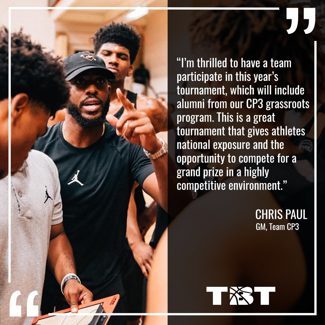 .@CP3 x TBT   The 9x All-Star is the latest to join the NBA ➡️ TBT family!  🏀 Team CP3  📍 Greensboro, NC - July 19-21  🎟️ https://promotions.thetournament.com/tbt-2019-greensboro-regional/ … …  #TBT2019