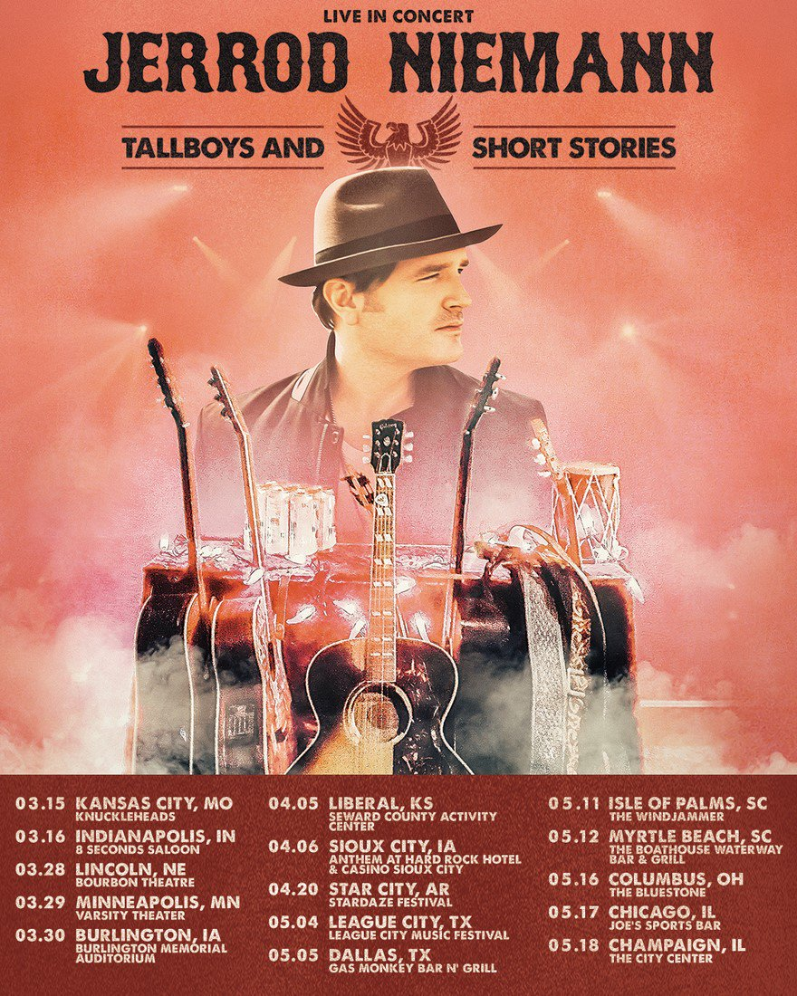 @jrodfromoz is taking it back to his roots with his return to the road for his headlining LIVE IN CONCERT: JERROD NIEMANN TALLBOYS AND SHORT STORIES headlining tour this spring. Check http://Curb.com for additional info!