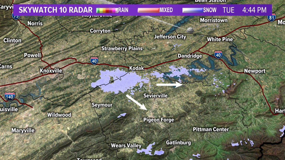 Wbir Weather On Twitter 4 45 Pm A Persistent Little Snow Shower