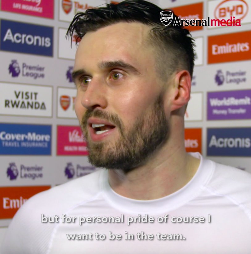 """""""I push on, I keep working. That's what I do best: work hard. I keep pushing and pushing. For personal pride, of course I want to be in the team.""""  ❤️ @CarlJenkinson  #ARSCAR"""