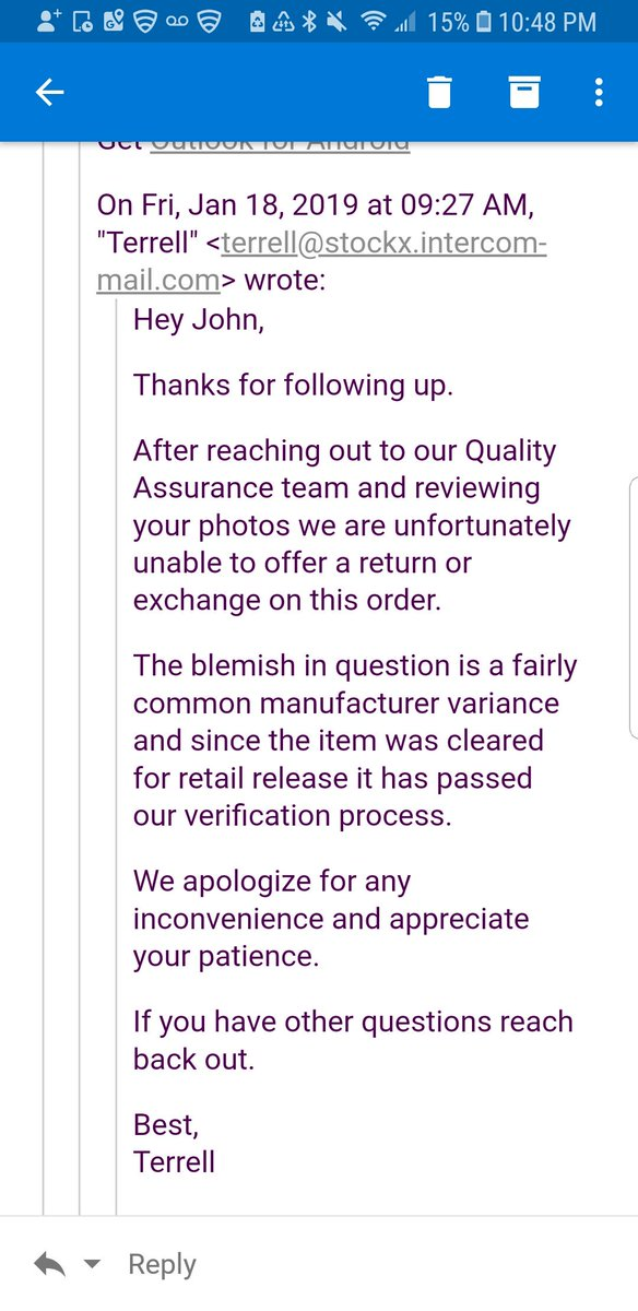 fcbbb20dfcc91 Stockx wont do returns returns if your not happy with what they sent you.  Screwed me on a  400 pair of yeezy static reflectives that were ...