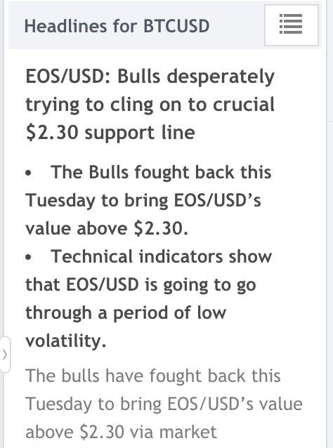 'The bulls'… or more like the bullshit. #EOSUSD #EOS #BTCUSD #BTC #Cryptonews