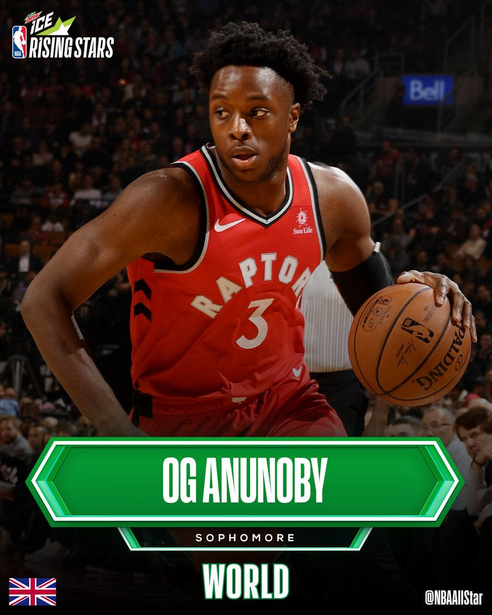 Selected to the World Team in the #MTNDEWICERisingStars at #NBAAllStar... @OAnunoby of the @Raptors!