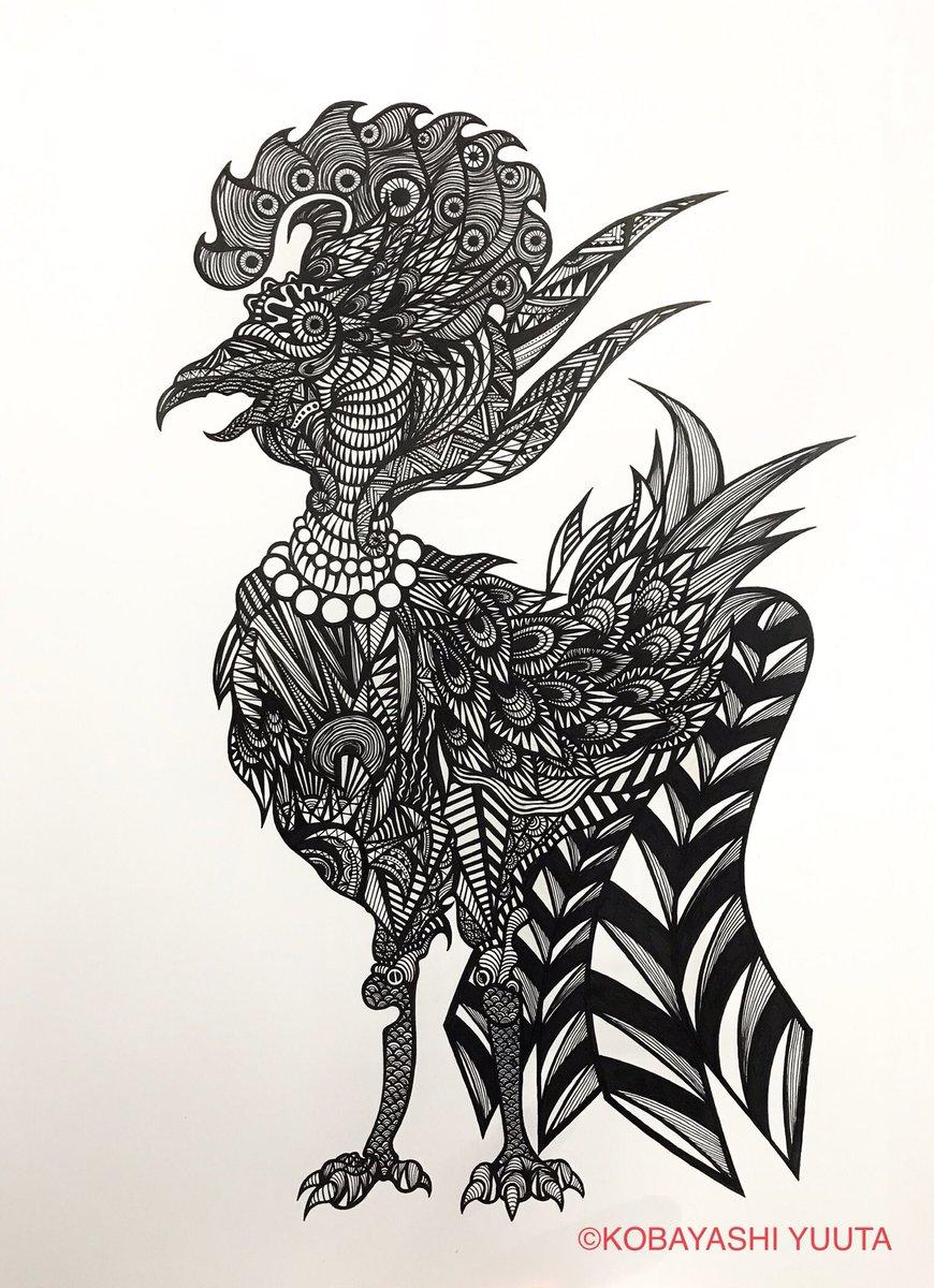 うつ絵師 At ゆうた On Twitter 完成四聖獣の朱雀 イラスト王国
