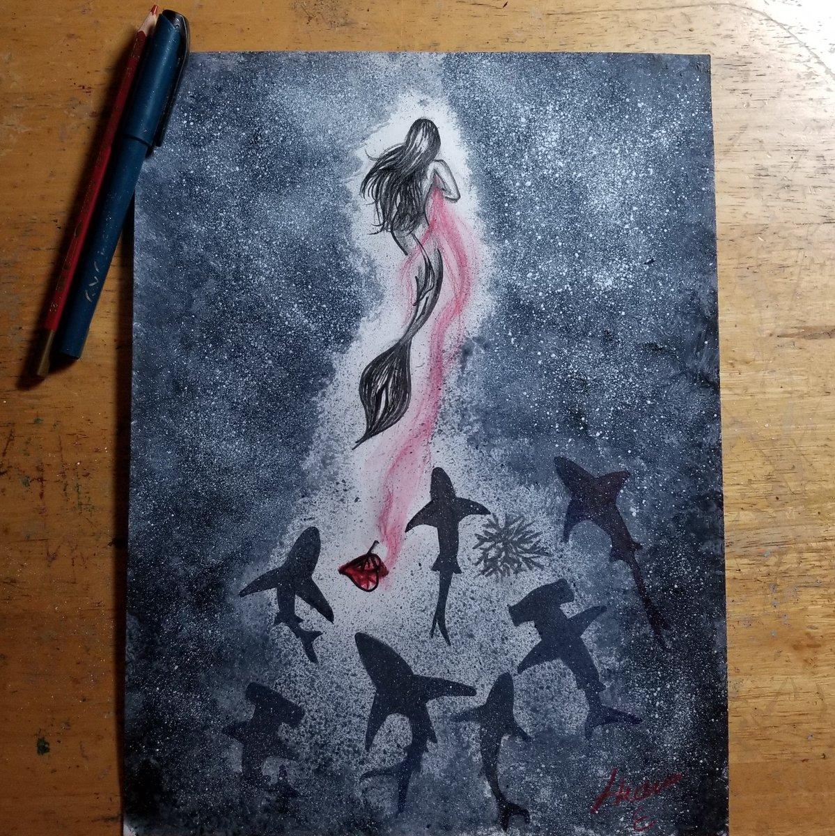 Attracting attention.  #warmupexercise  #sketchtherapy  #breakingaway #slippingaway #ptsd #ptsdtriggers #toyed #pencils #sketch #womenofart #dallas #womenartist #sirensoul #siren #brokenheart  #dallasartist #artjournal #artjournaling #thejourney #womansjourney pic.twitter.com/B9YdLqJrUf