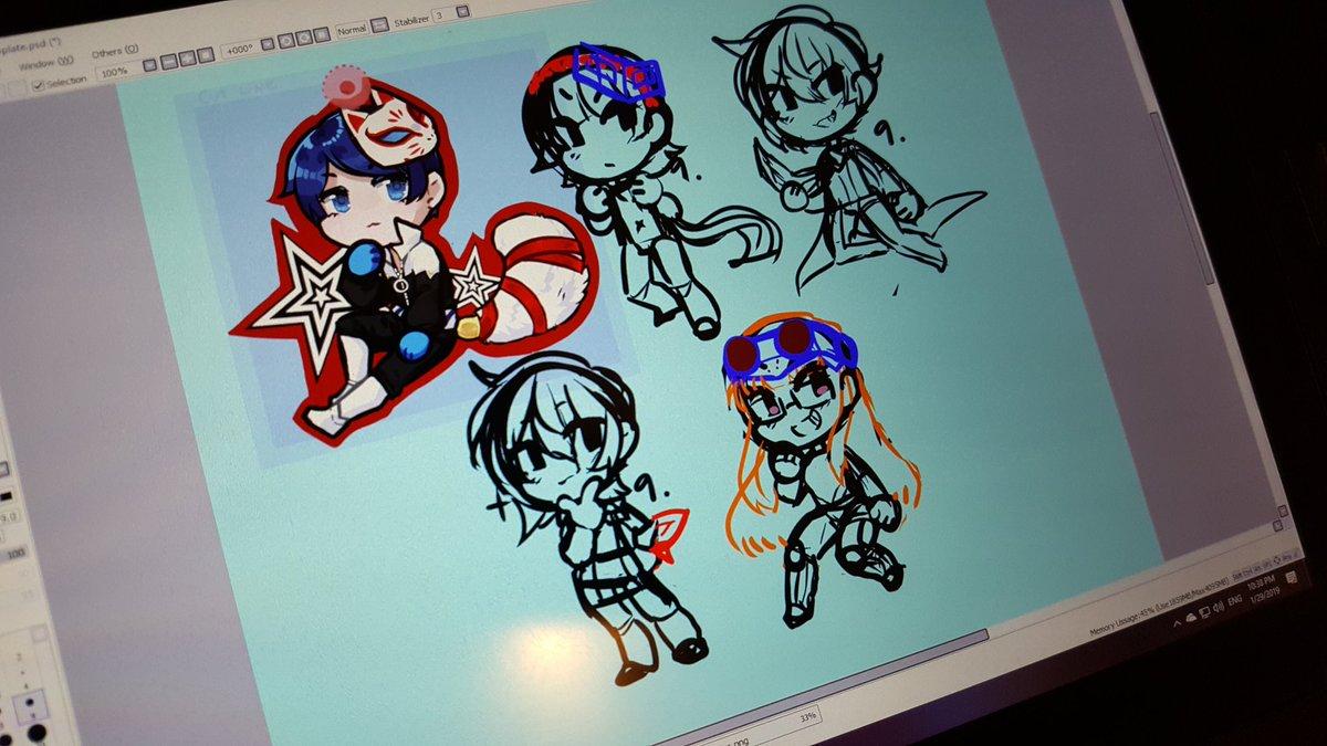 Yusuke Persona 5 Concept Art