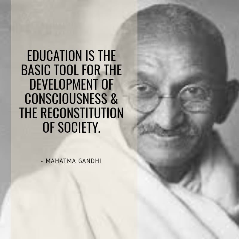 On #martyrsday remembering #MahatmaGandhi who educated us all on love, peace & freedom. May we all inherit his ideals, live a life for others around us.
