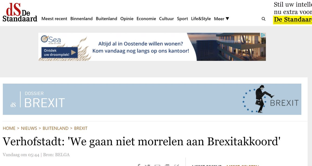 Brilliantly, Belgium's De Standaard newspaper's icon for Brexit coverage is John Cleese in Monty Python's Ministry of Silly Walks goose-stepping out of a circle of EU stars.