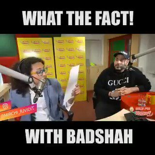 .@MirchiVidit is here with @Its_Badshah to crack your Wednesday afternoons up in this hilarious game of #WhatTheFact!  #game #choices #facts #funny #hilarious #comedy #wednesday #fun