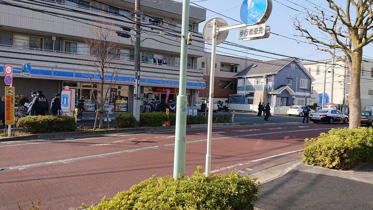 江戸川区本一色のローソンで強盗事件が起きた現場画像