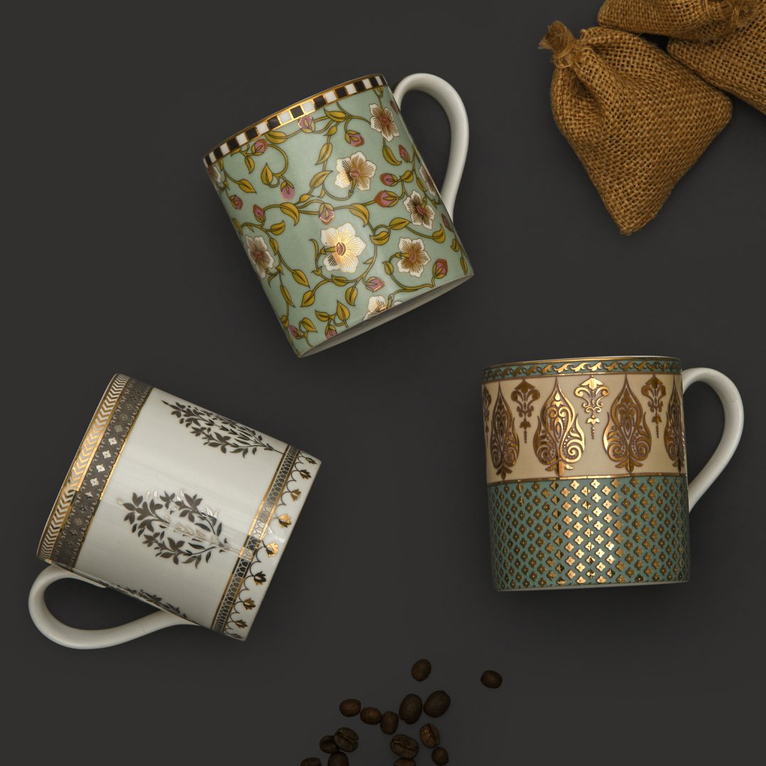 39e6c1849bb Hours of chit chat and cups of steaming coffee just got more gorgeous with  meticulously crafted mugs.  addresshomedecor  homedecor  luxurylifestyle ...