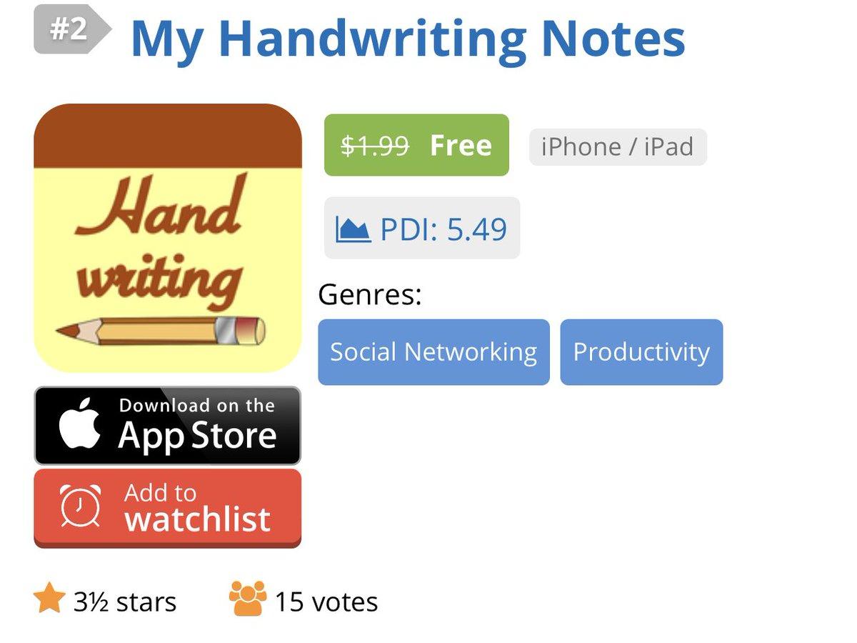 تحميل تطبيق My Handwriting Notes  المدفوع مجانا للايفون