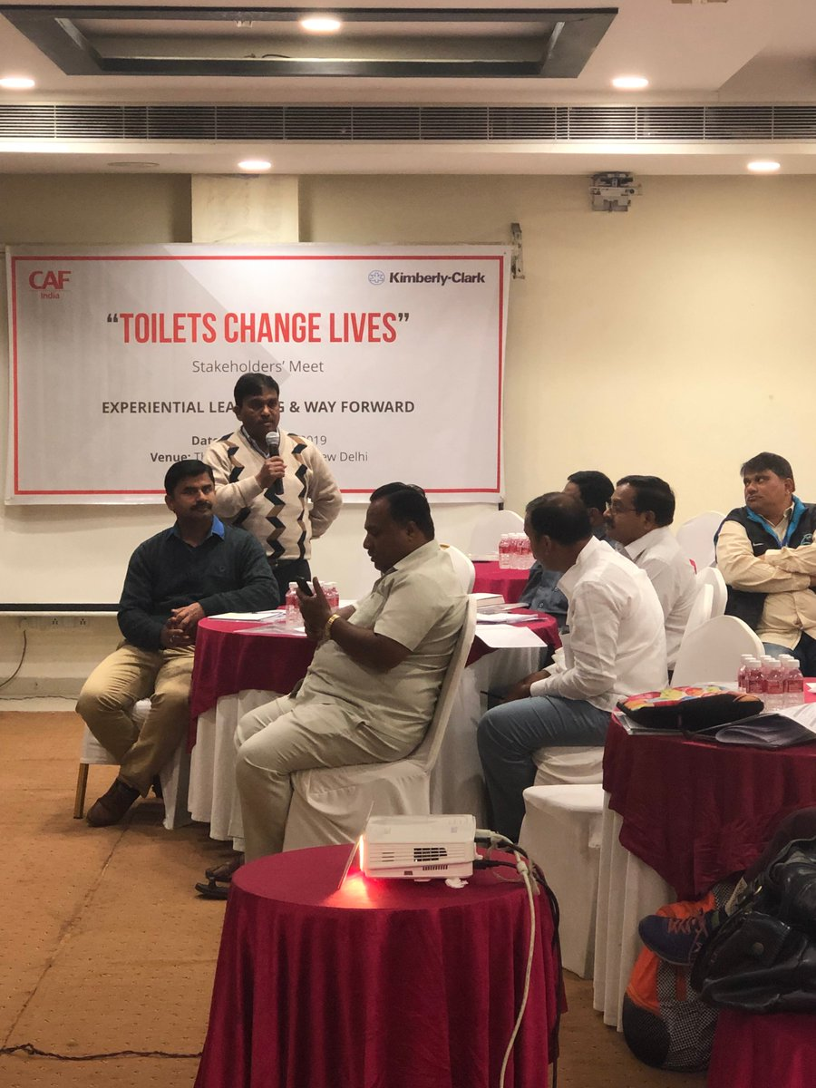 Today's session has partners from 7 states participating to discuss their learnings and sharing good practices for developing a mechanism for the maintenance of toilets and ensuring the sustainability of WASH project in the country.  #toiletstochangelife