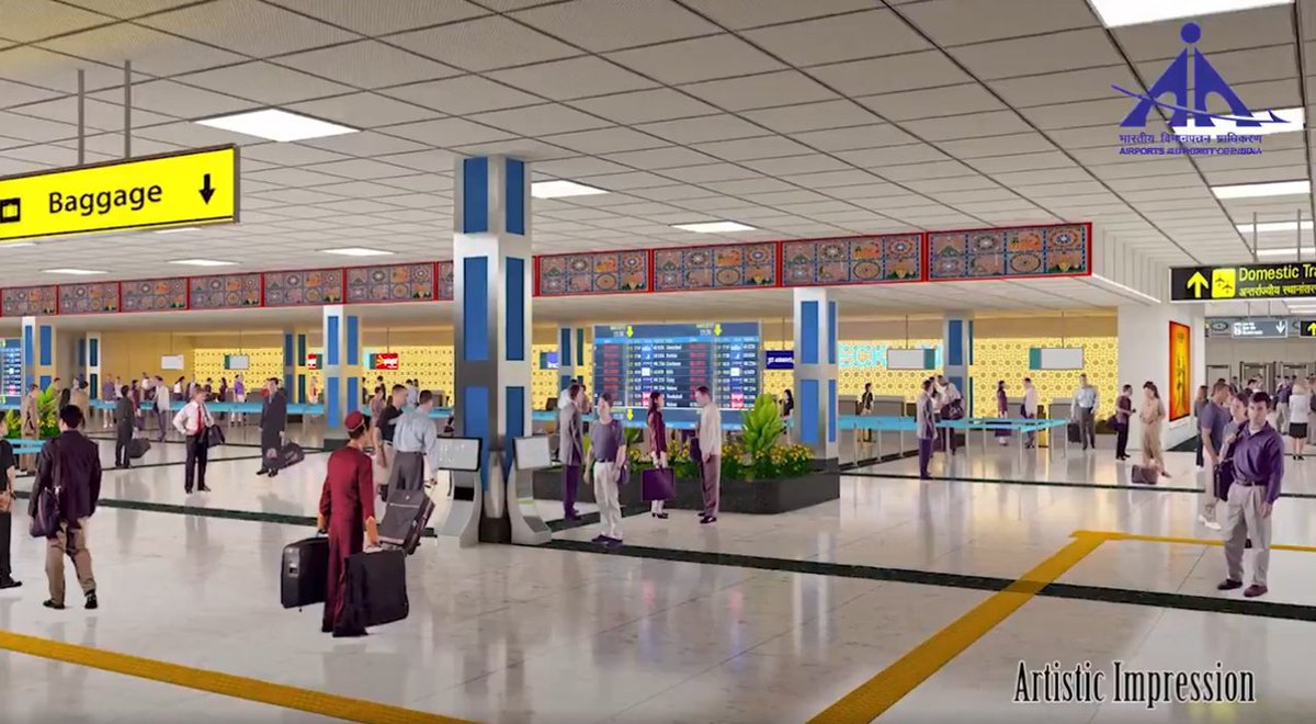 This is how Surat airport will look like in 2020 after extended terminal building is functional