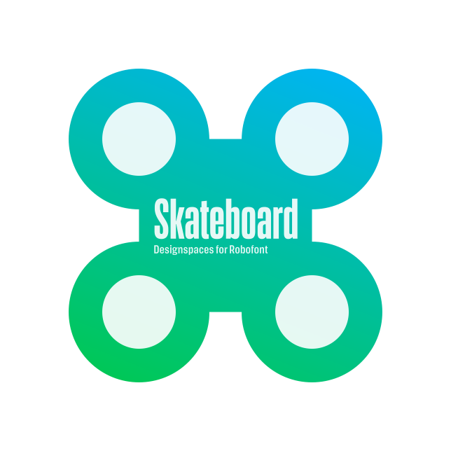 Introducing Skateboard! designspaces for RoboFont 3.2. http://superpolator.com/pages/skateboard.html … @roboFontEditor @superpolator #designspace #variablefonts  pic.twitter.com/1Mm9cSX8vt