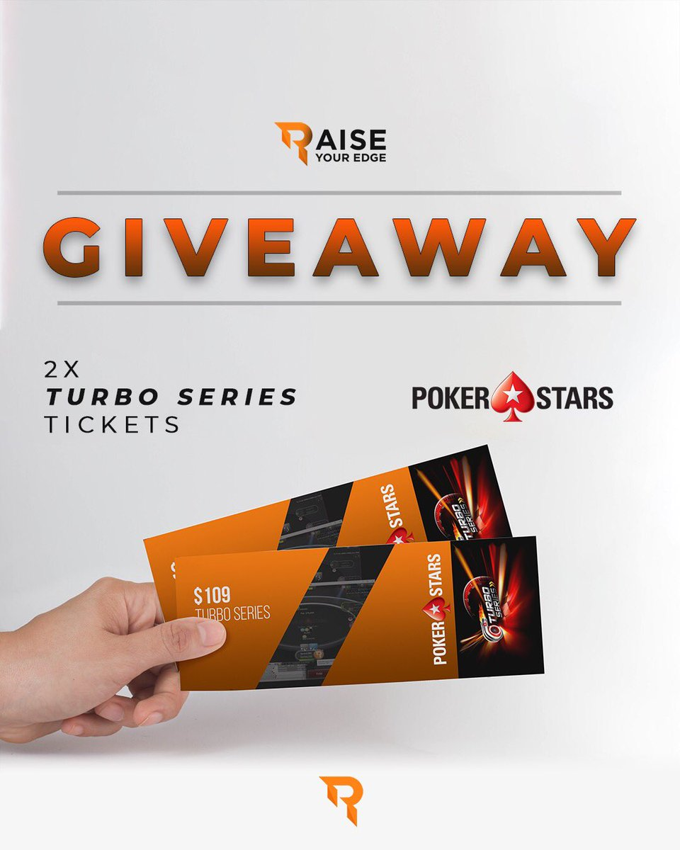 🚨Ticket Giveaway Alert🚨  10 ways to Enter here⤵️  https://gleam.io/15qTW/win-1-of-2-109-turbo-series-main-event-tickets…  We are giving away 2x $109 Tickets for the Turbo Series on PokerStars which starts this Sunday!  The more Entries you take the higher your chance of winning is, best of luck to everyone and #letsCRUSH