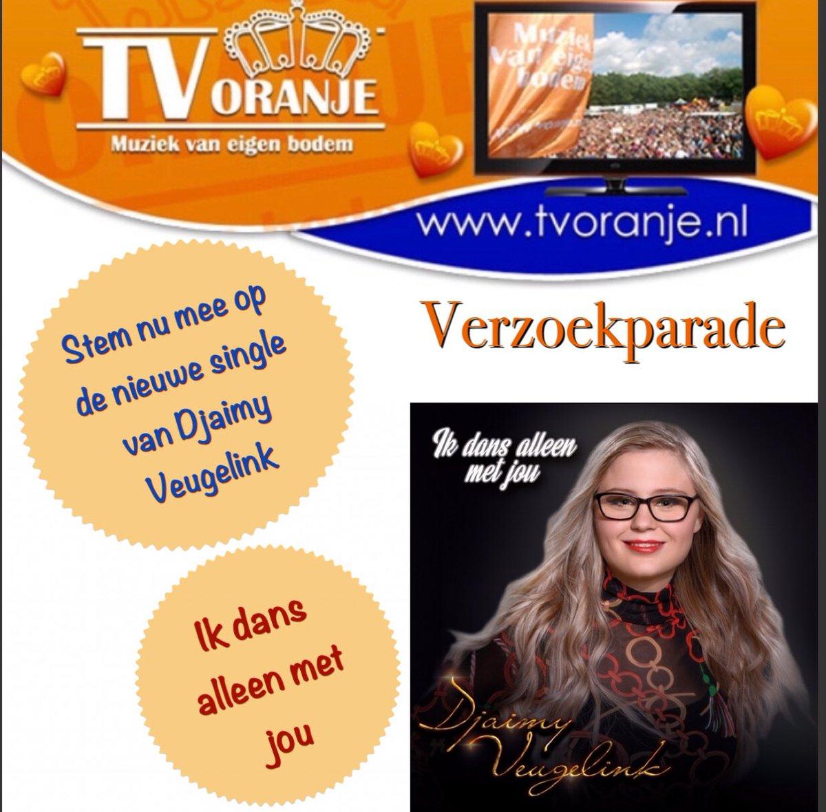 """Wil jij #DjaimyVeugelink vanavond op TV Oranje zien?, stem dan nu mee op haar nieuwSte single & clip """"Ik dans alleen met jou"""" op: http://www.tvoranje.nl/verzoekparade.html…. . Alvast bedankt voor jullie stem en steun👍🏻🎬"""