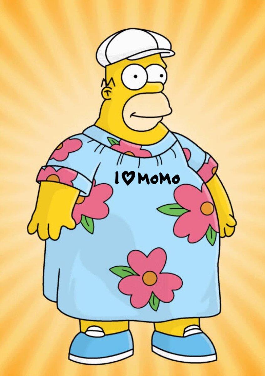 90b05522c5392 Isn't MoMo Homer Simpson's enormous Hawaiian dress?!? 👍 #muumuu ...