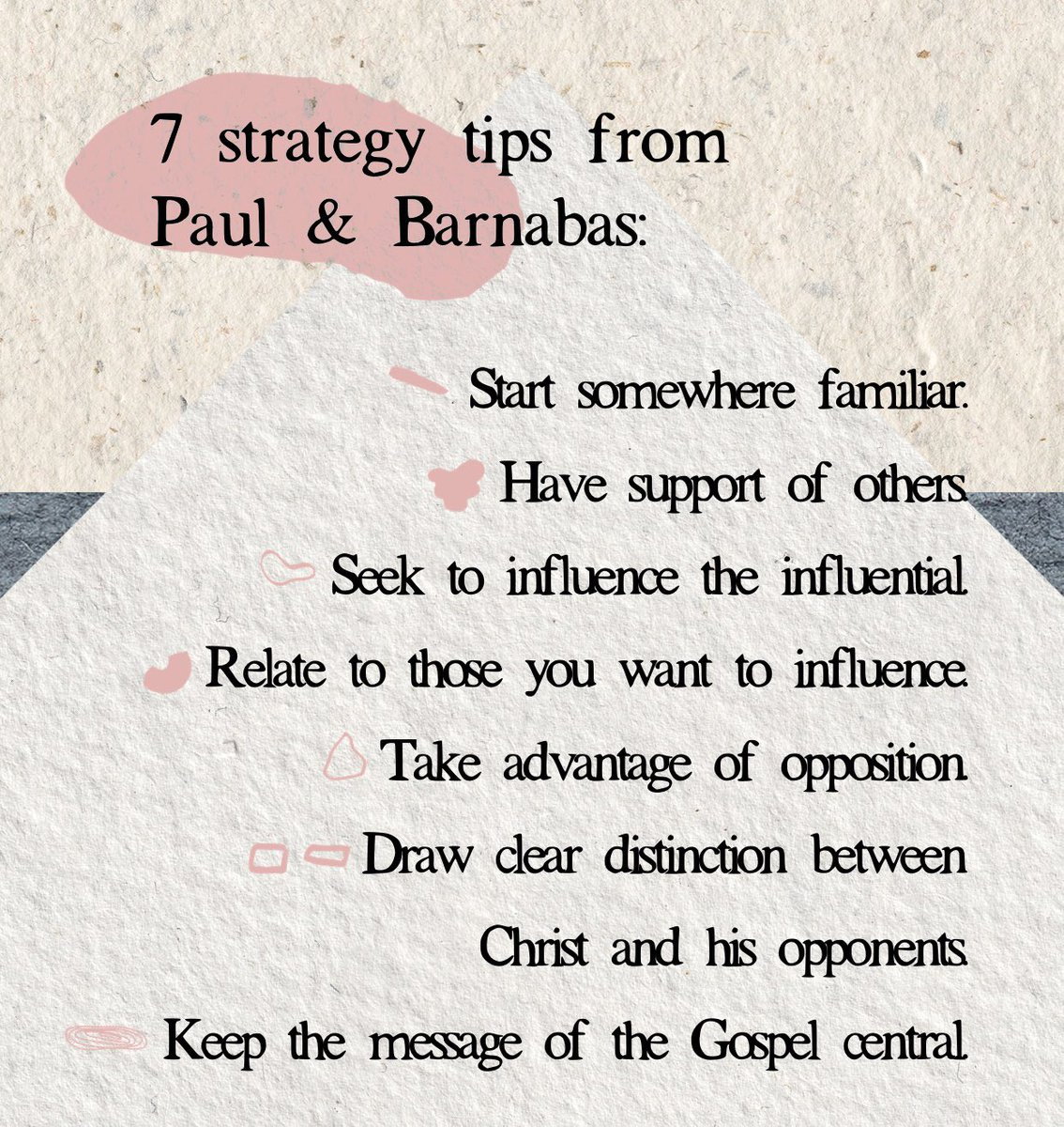 From Acts 13:4-12, Seven strategy tips from Paul and Barnabas